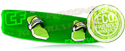 2015 Crazyfly Shox Green Kiteboard