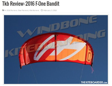 2016 F-One Bandit 9 TKB The Kiteboarder Magazine Review