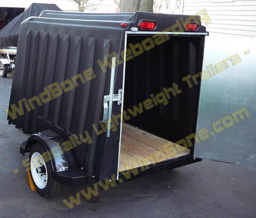 Roto Molded Enclosed Cargo Trailer Ultra Light Small